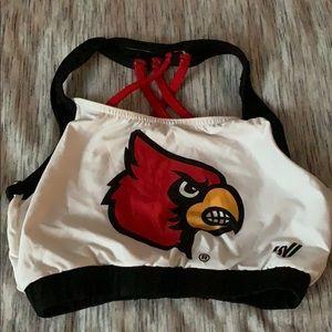Louisville cheerleading sports bra